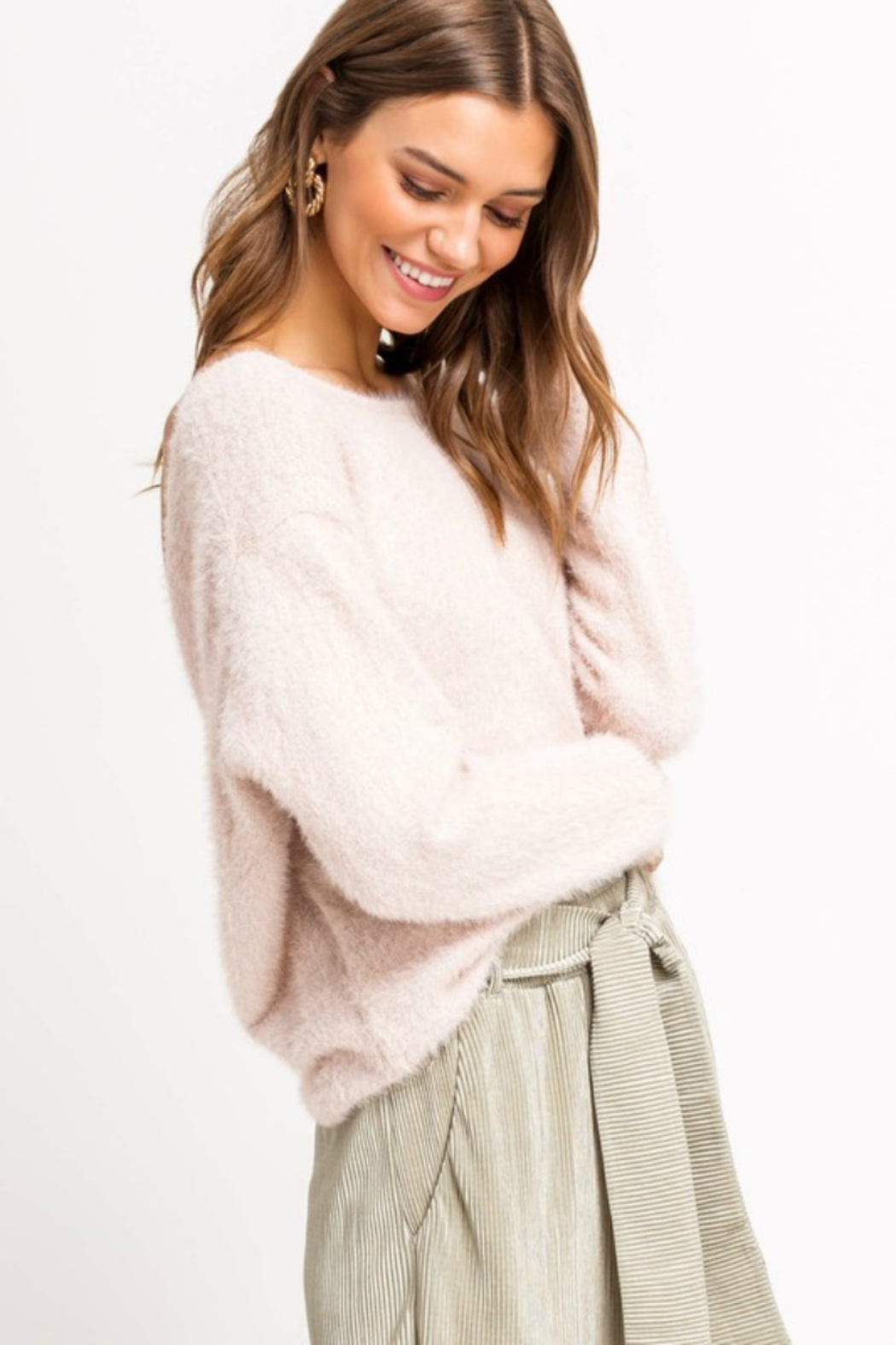 Lush Clothing  YES PLEASE SWEATER - Side Cropped Image