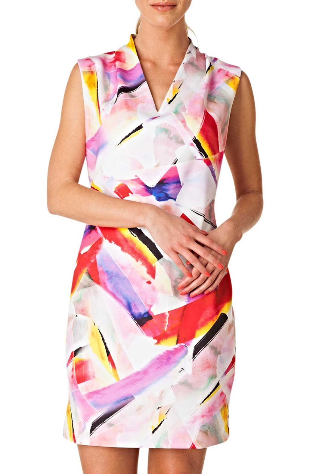 Colletta Abstract Colors Dress - Main Image