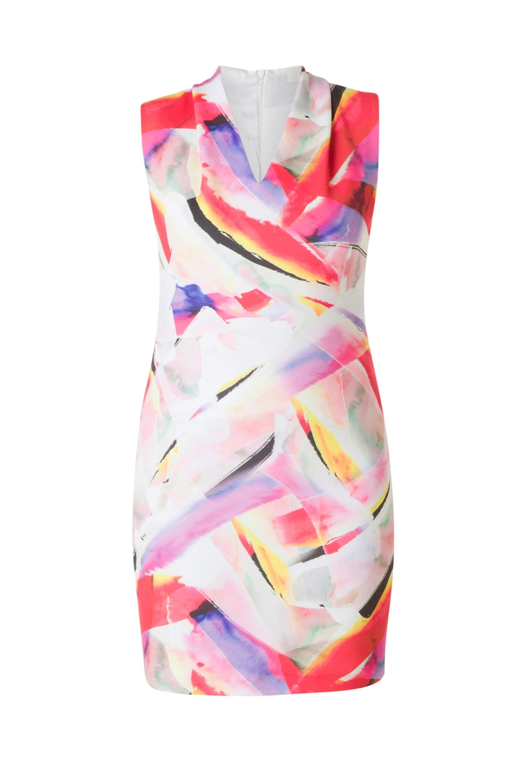 Colletta Abstract Colors Dress - Side Cropped Image