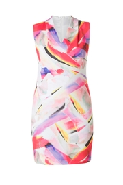 Colletta Abstract Colors Dress - Side cropped