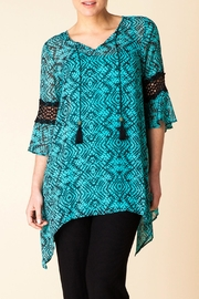 Yest Aqua Print Tunic - Front cropped