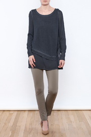Yest Asymmetrical Knit Tunic - Front full body
