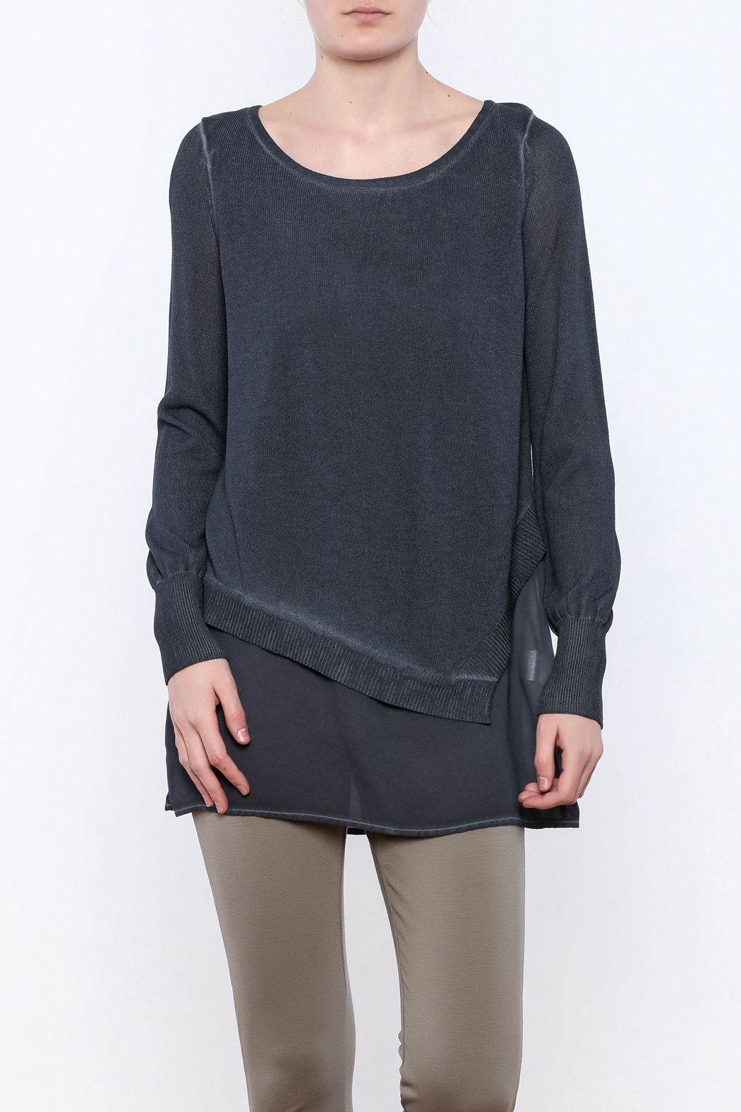 Yest Asymmetrical Knit Tunic - Main Image