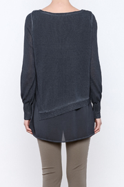 Yest Asymmetrical Knit Tunic - Back cropped