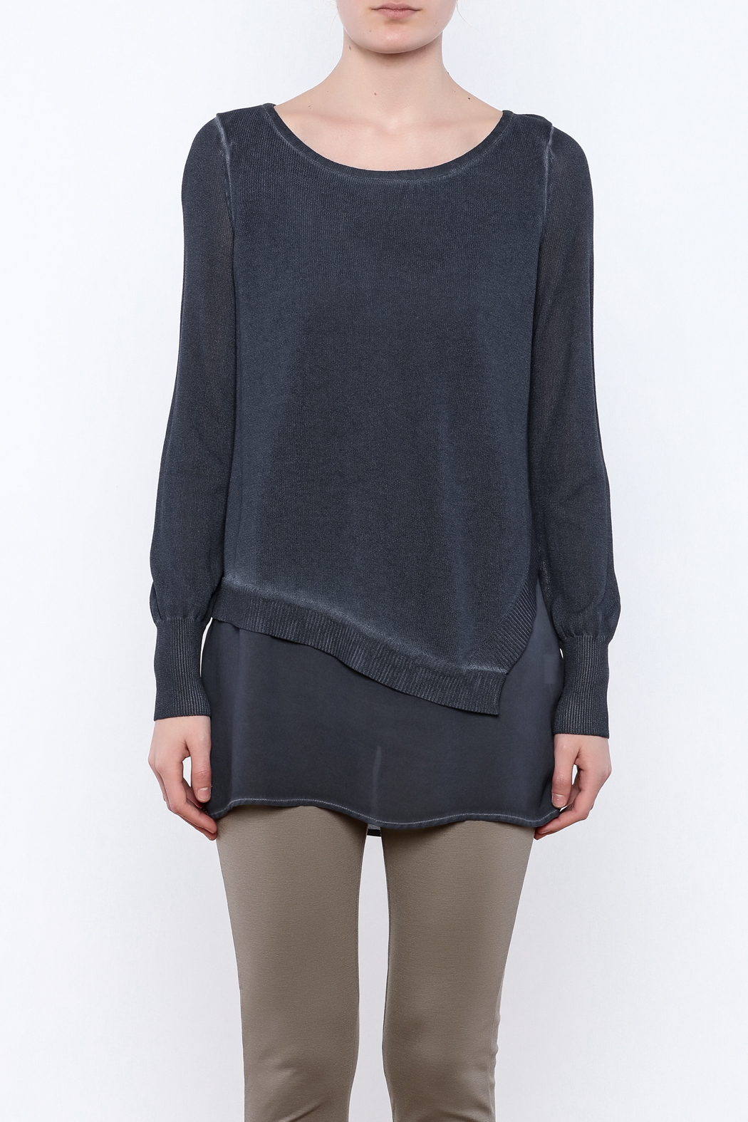 Yest Asymmetrical Knit Tunic - Side Cropped Image