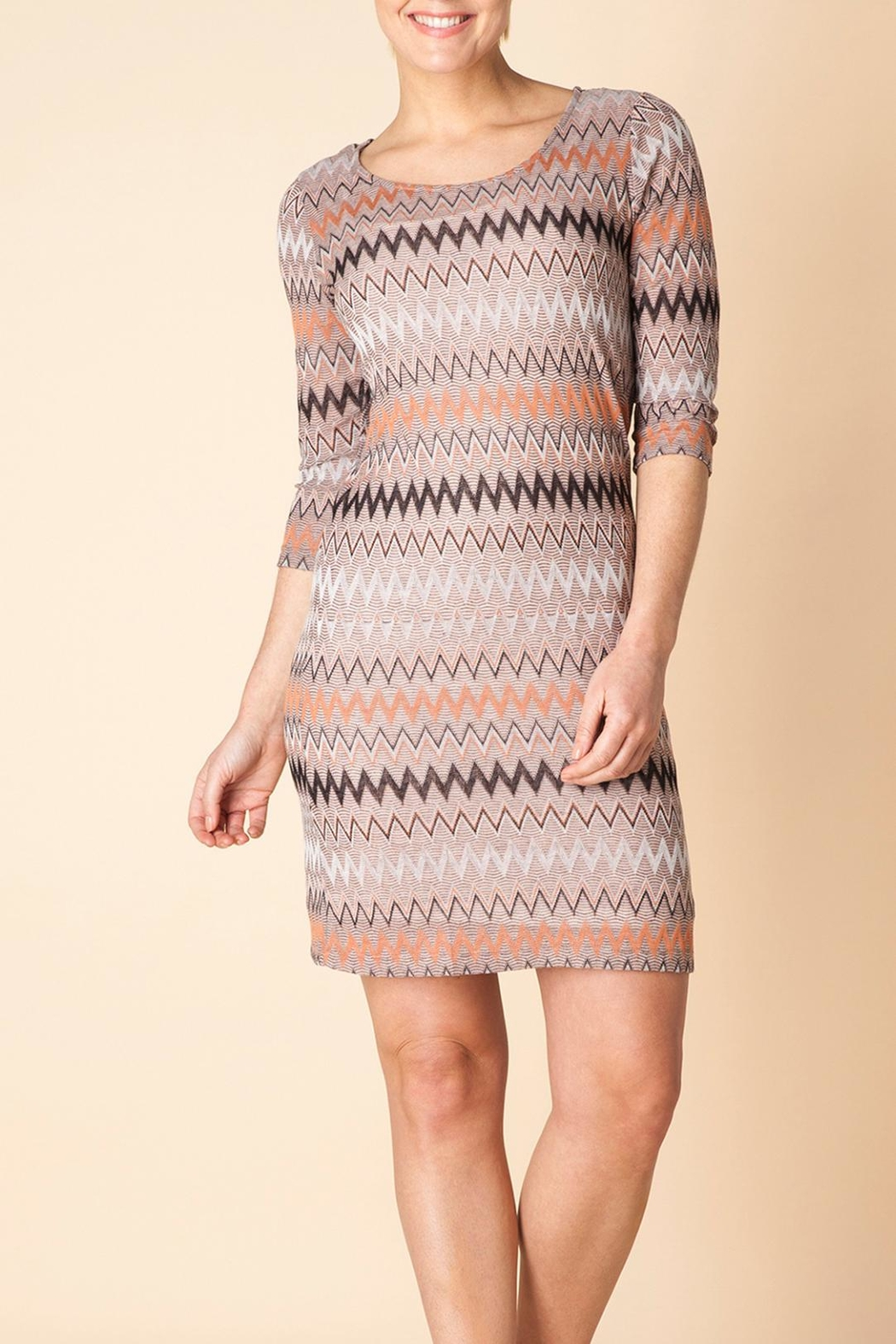 Yest Autumn Knit Dress - Front Cropped Image