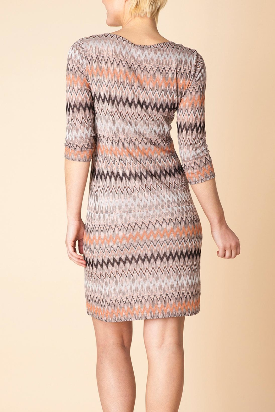 Yest Autumn Knit Dress - Front Full Image