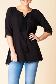 Yest Black Boho Tunic - Product Mini Image