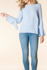 Yest Blue Bellsleeve Blouse - Front cropped