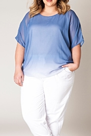 Yest Blue Fading Blouse - Product Mini Image