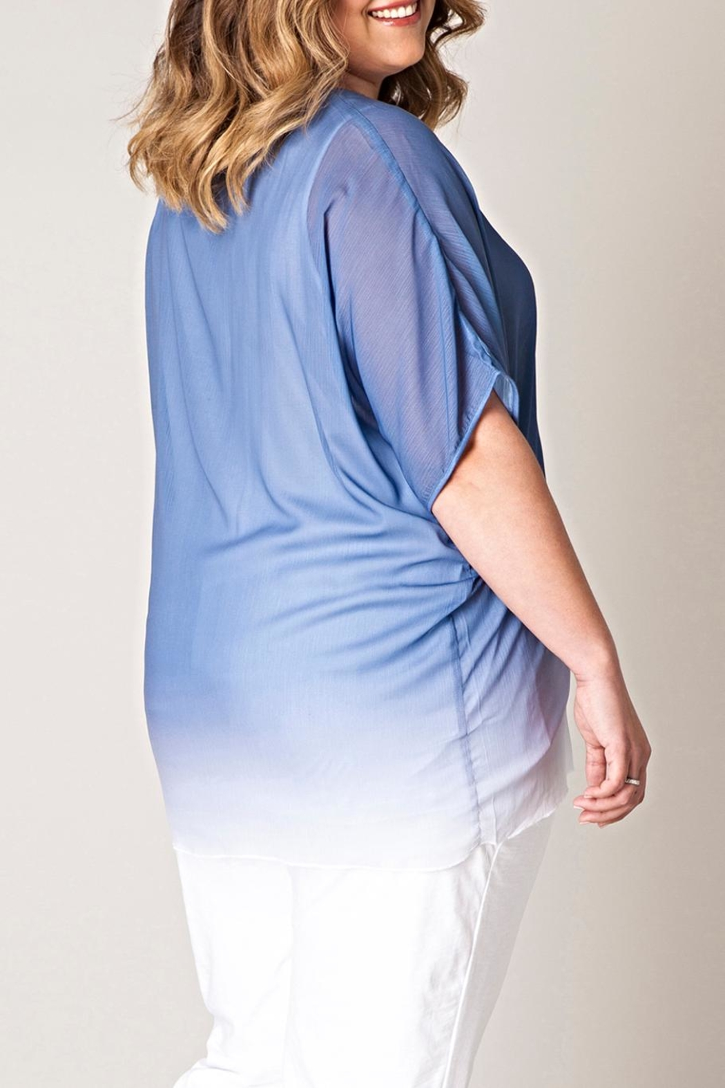 Yest Blue Fading Blouse - Front Full Image