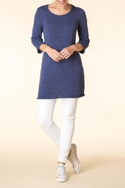 Yest Blue Knit Tunic - Front cropped