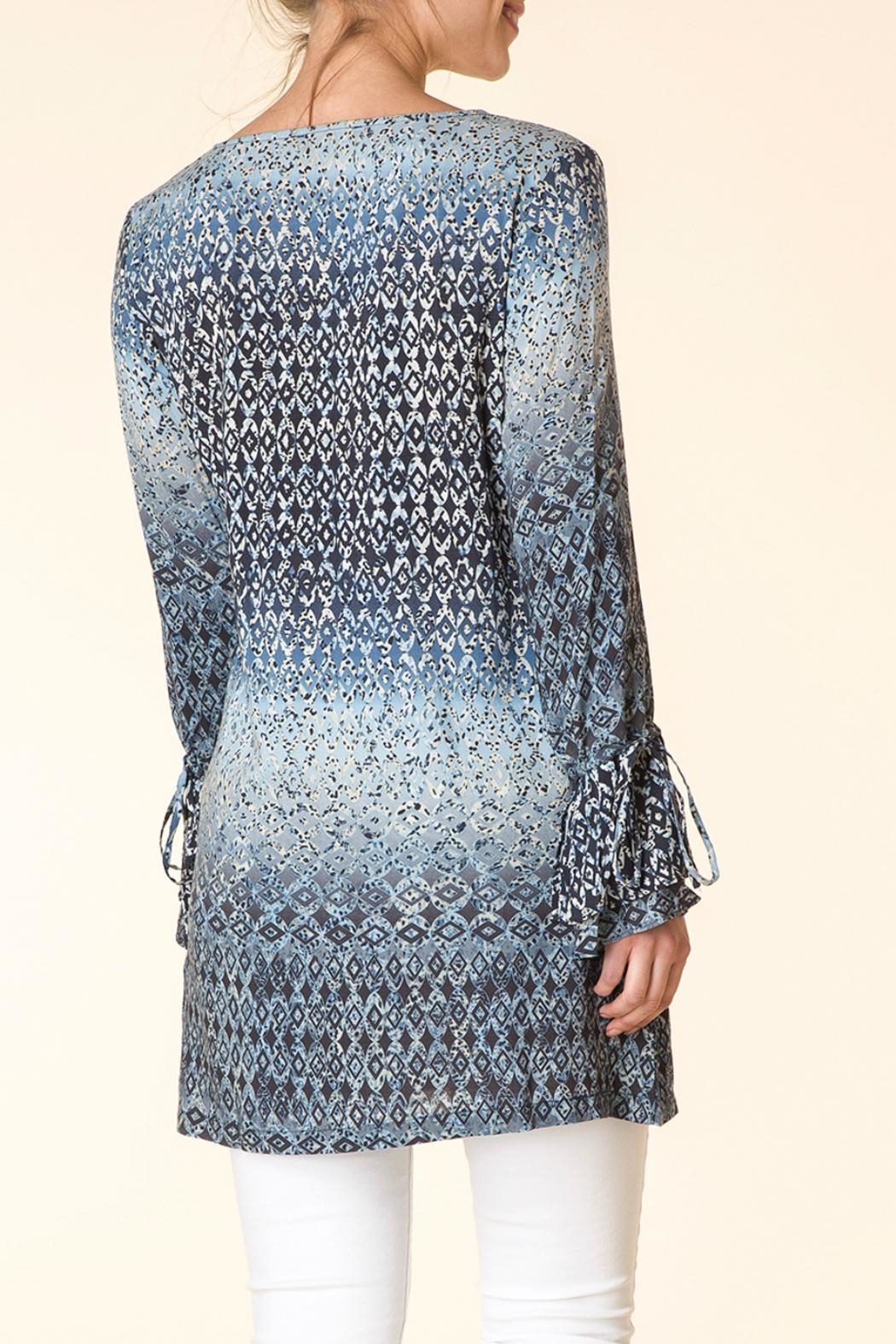 Yest Blue Pattern Tunic - Front Full Image