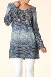 Yest Blue Pattern Tunic - Product Mini Image