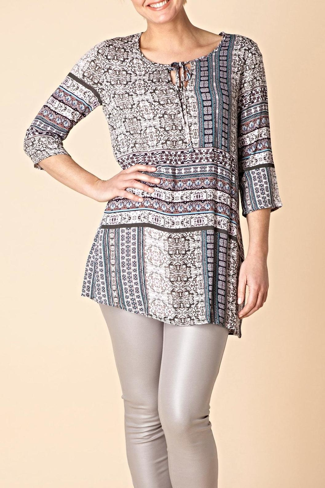 Yest Borderline Prarie Tunic Top - Front Cropped Image