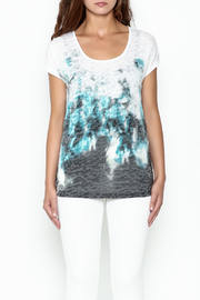Yest Burnout Print  Tee - Front full body