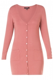 Yest Button Front Cardigan - Front full body