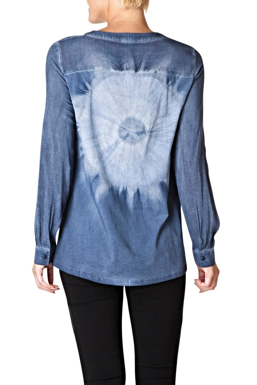 Yest Button Tiedye Blouse - Front Full Image