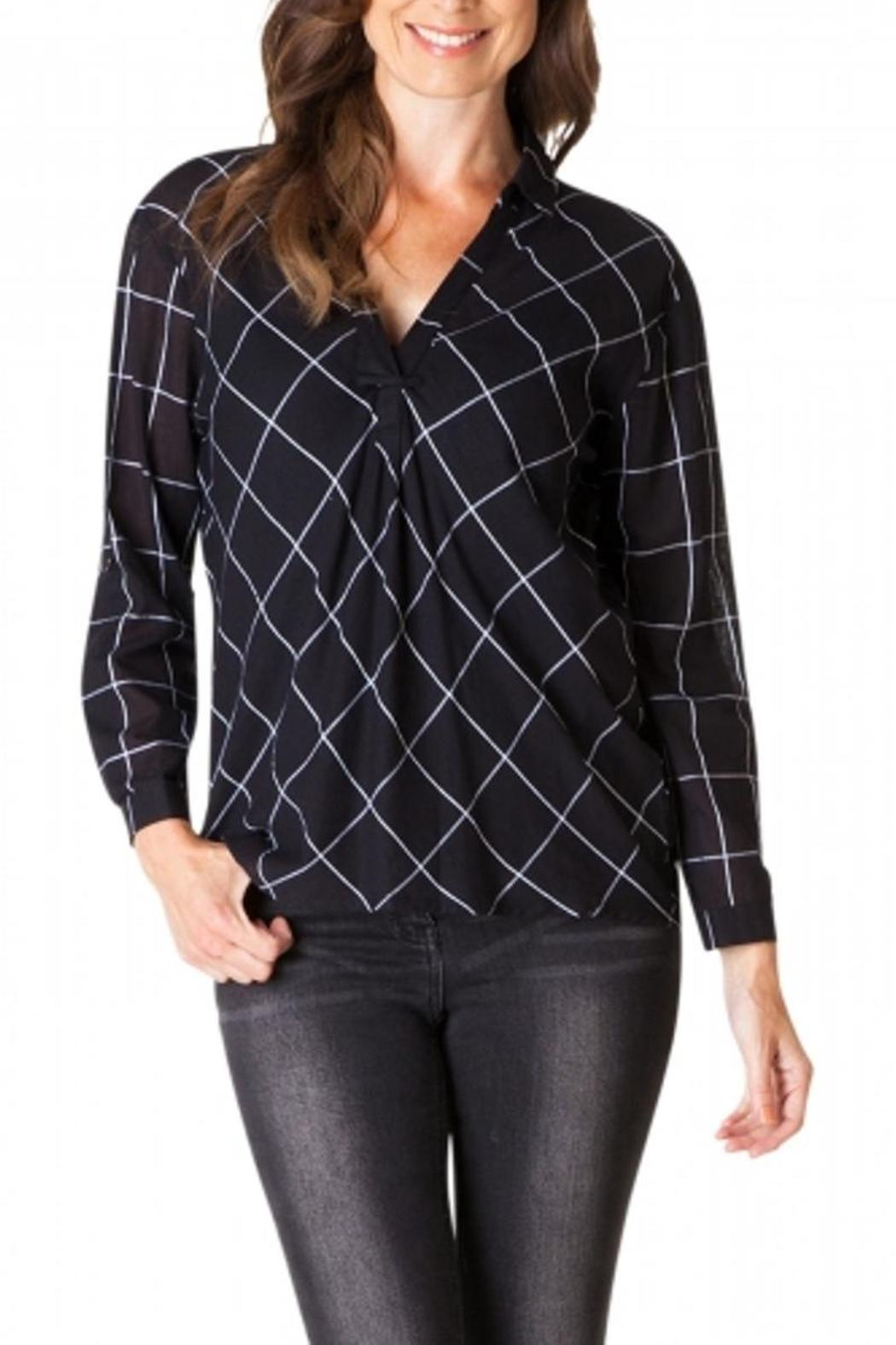 Yest Checkered Blouse - Side Cropped Image
