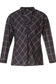 Yest Checkered Blouse - Back cropped