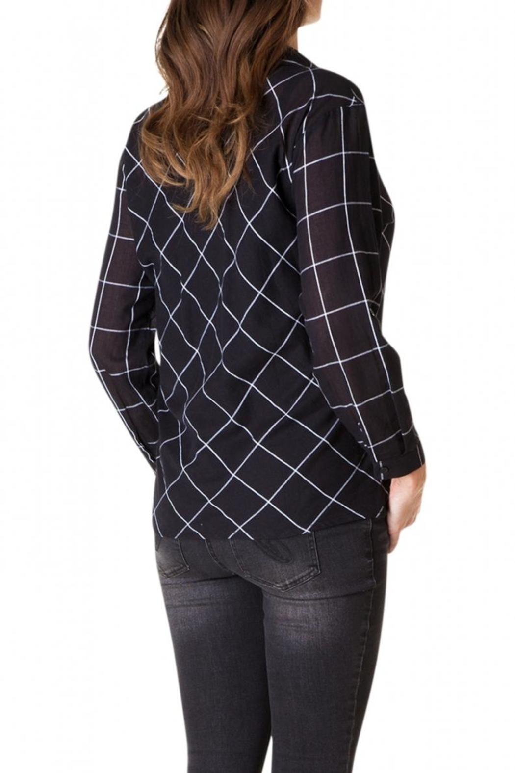 Yest Checkered Blouse - Front Full Image