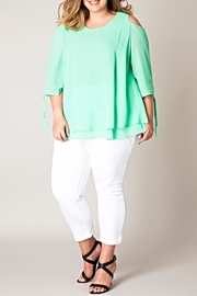Yest Cold Shoulder Blouse - Product Mini Image
