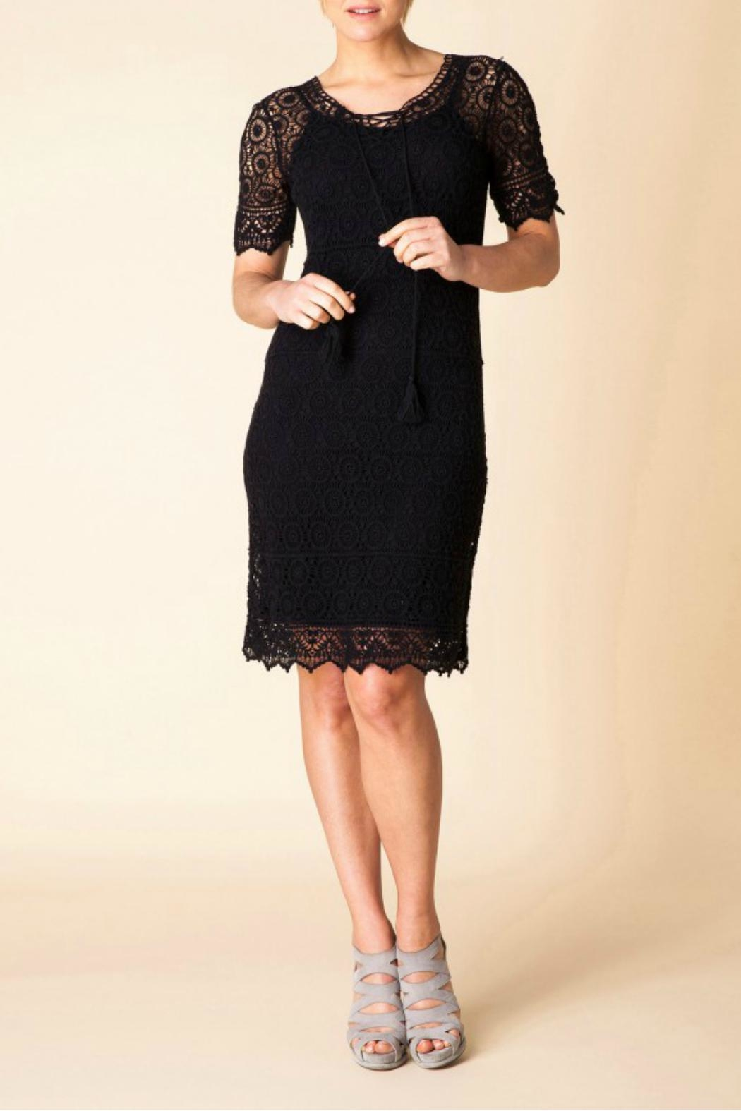 Yest Cotton Embroidered Dress - Front Full Image