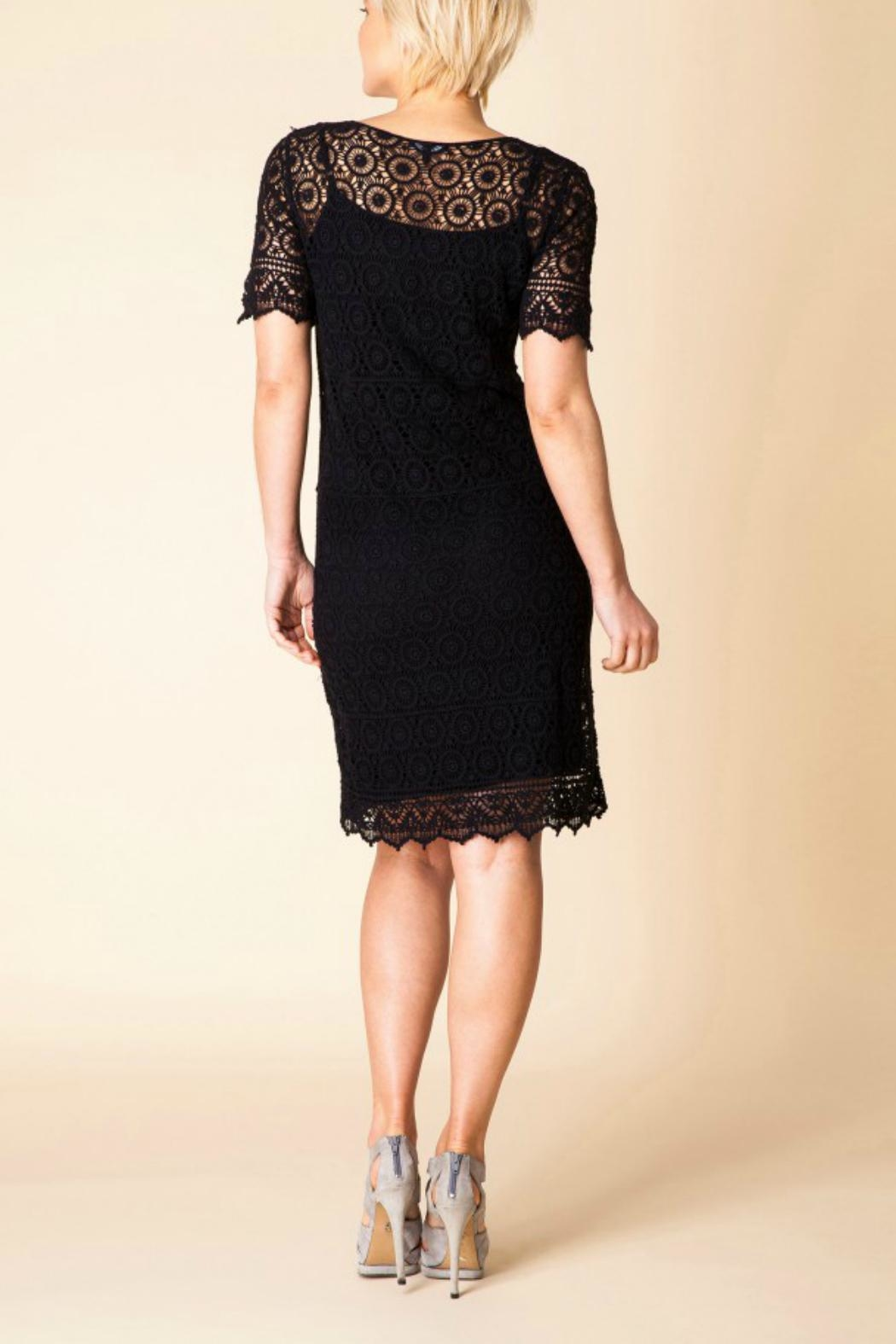 Yest Cotton Embroidered Dress - Side Cropped Image