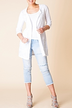 Shoptiques Product: Crochet Trim Cardigan