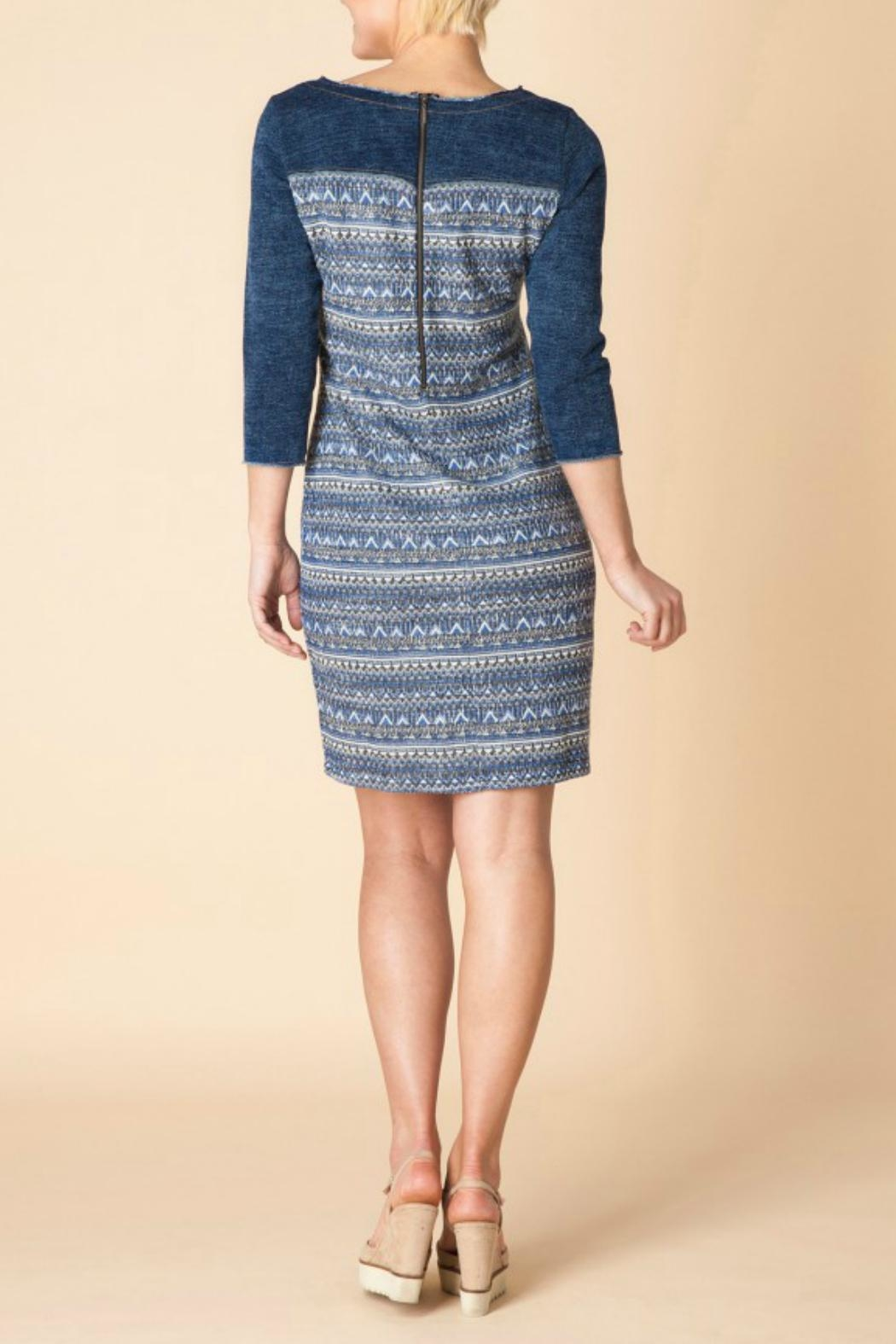 Yest Denim Cotton Dress - Side Cropped Image