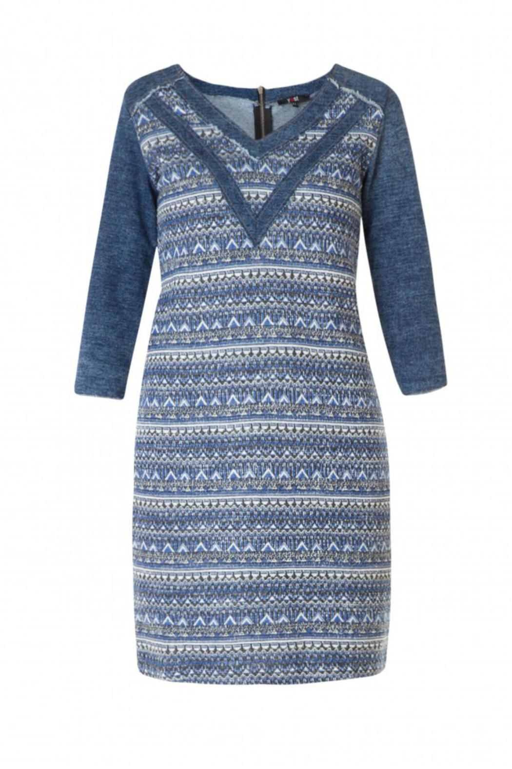 Yest Denim Cotton Dress - Front Cropped Image