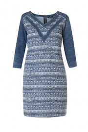 Yest Denim Cotton Dress - Front cropped