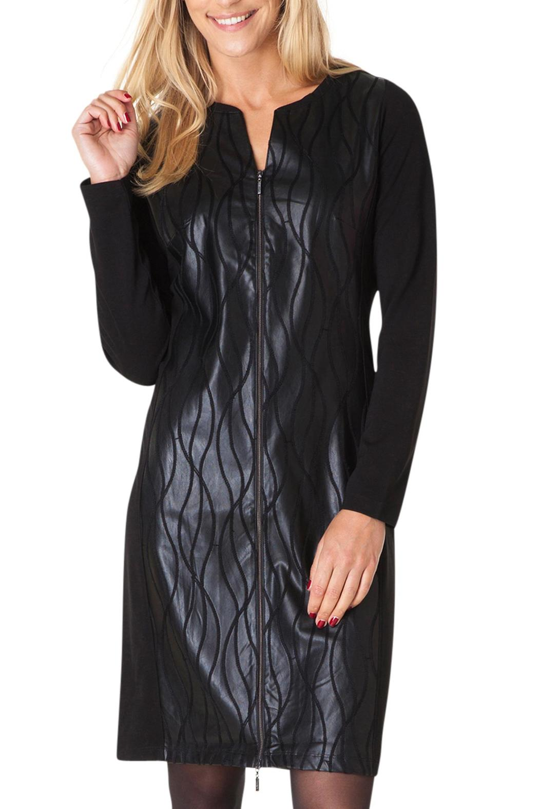 Yest Faux Leather Dress - Main Image