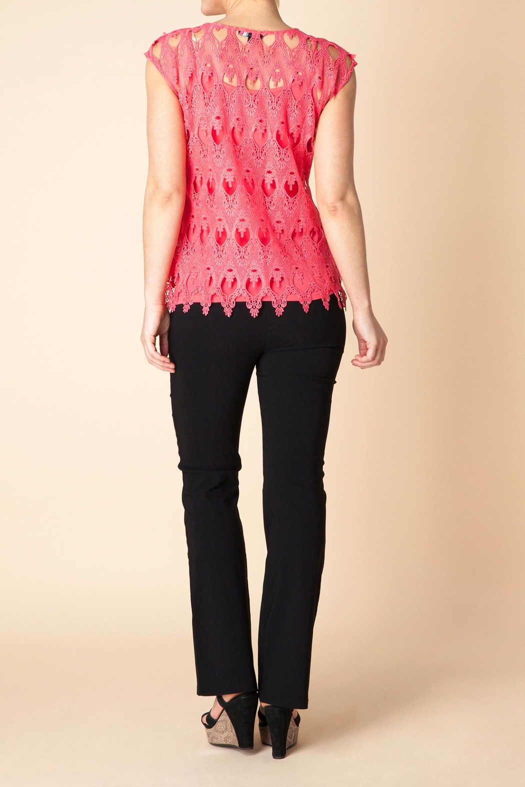 Yest Flamingo Lace Blouse - Front Full Image