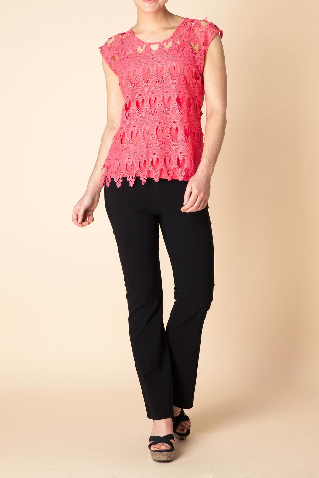 Yest Flamingo Lace Blouse - Main Image