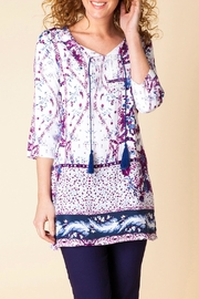 Yest Floral Print Tunic - Front cropped