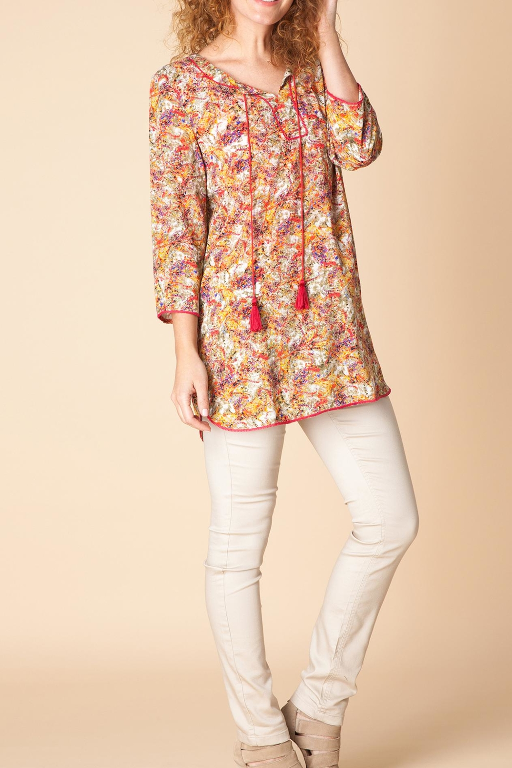 Yest Floral Print Tunic - Main Image