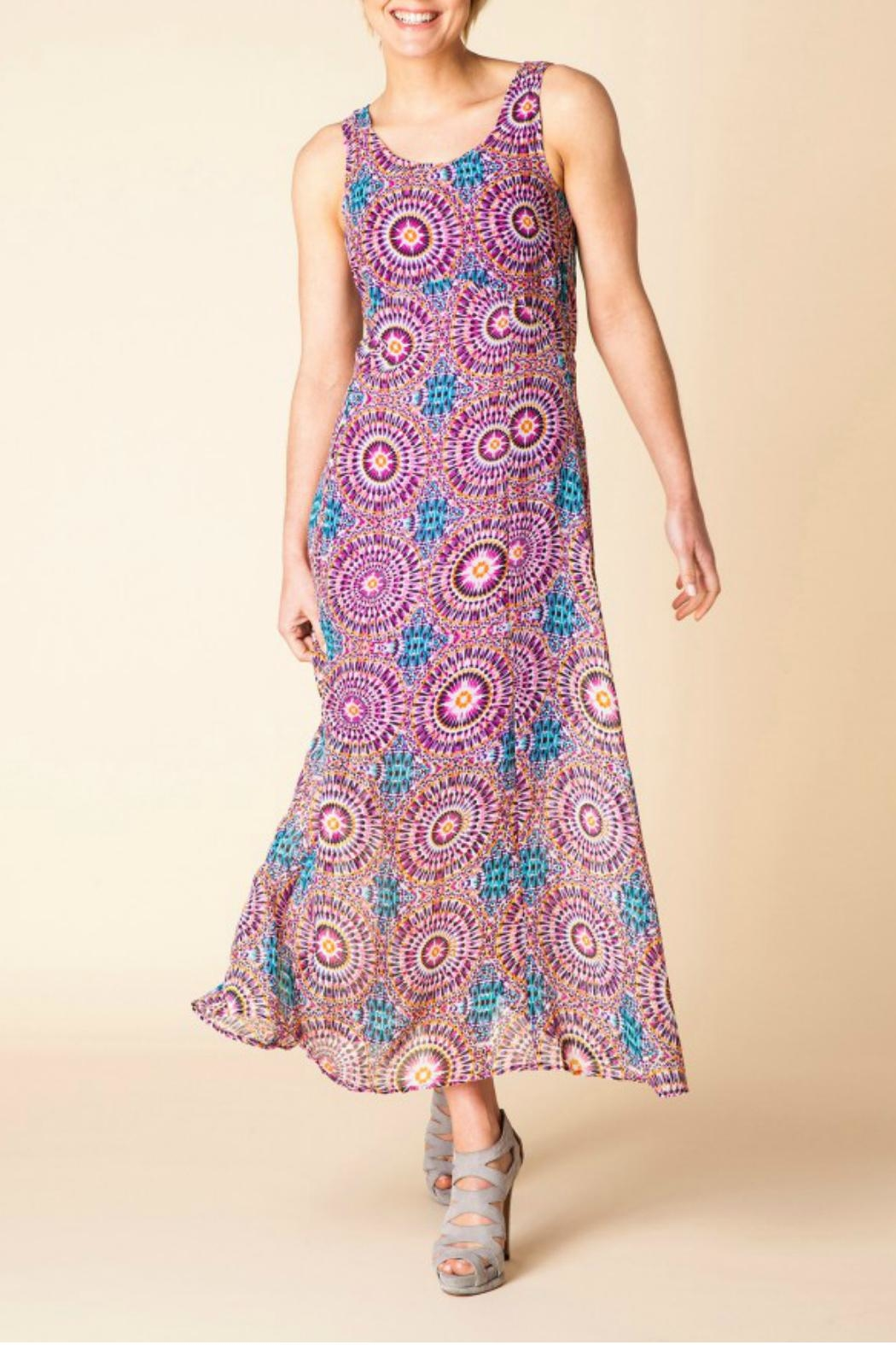 Yest Flowy Maxi Dress - Front Full Image