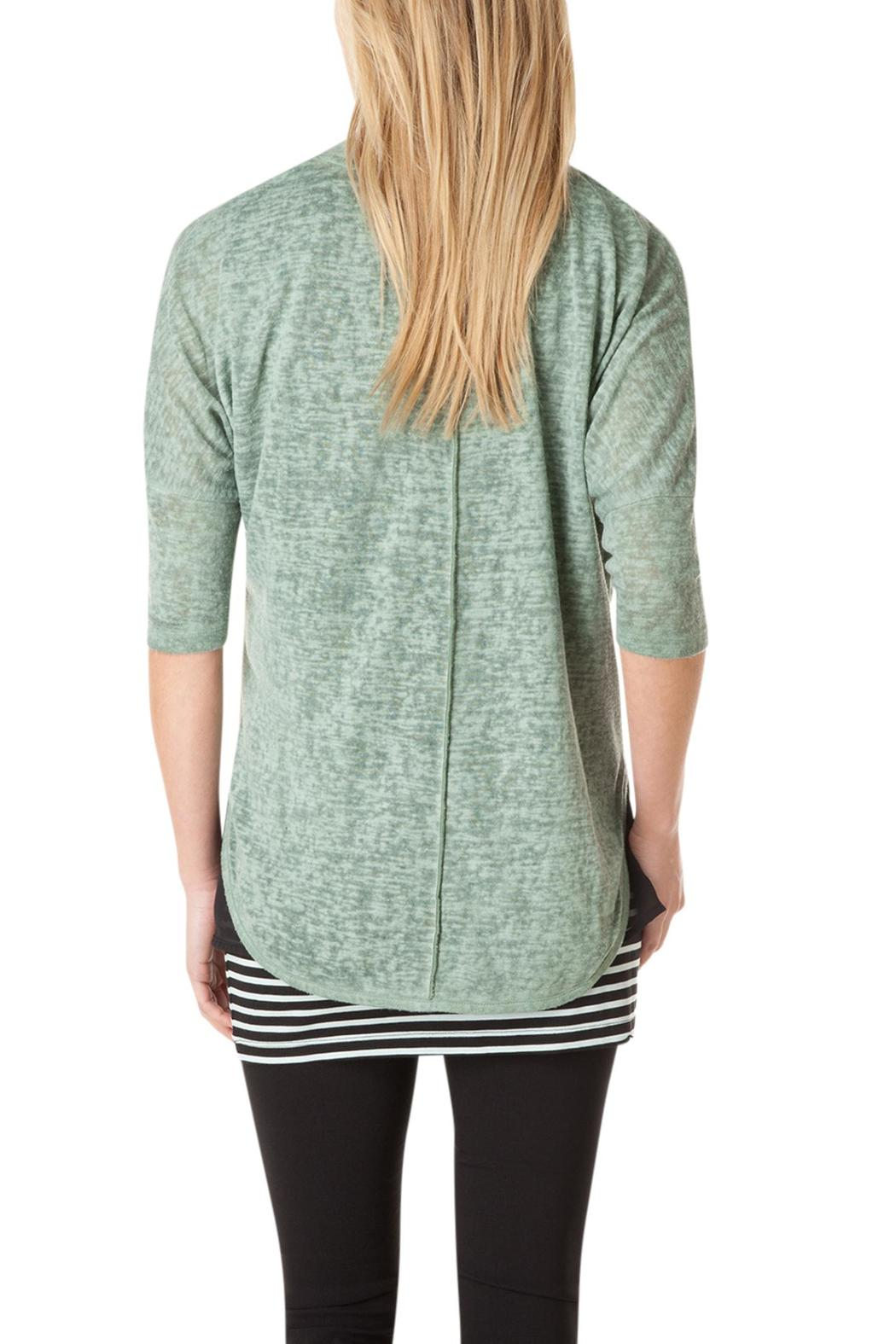 Yest Green Crop Cardigan - Front Full Image