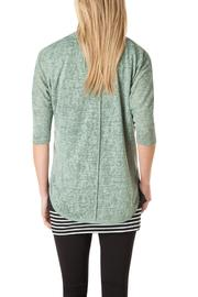 Yest Green Crop Cardigan - Front full body