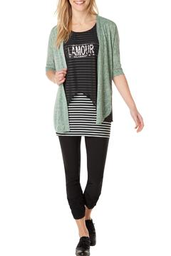 Shoptiques Product: Green Crop Cardigan