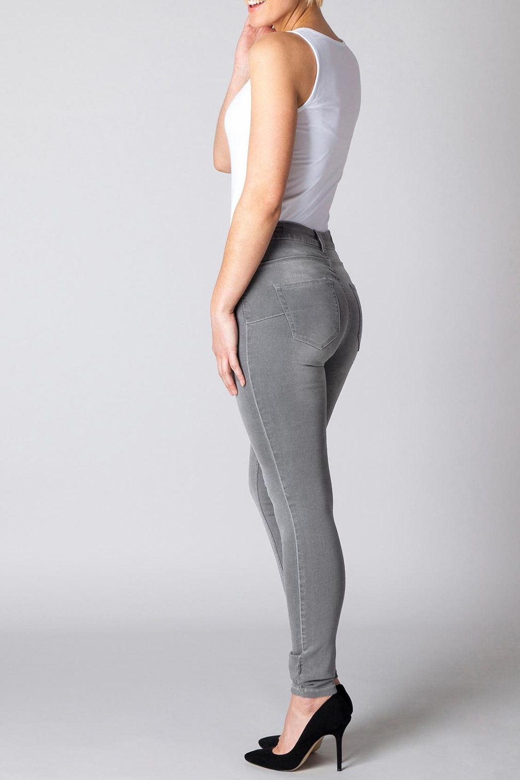 Yest Grey Slimming Jeans - Main Image