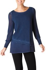 Yest Indigo Sweater Blouse - Product Mini Image