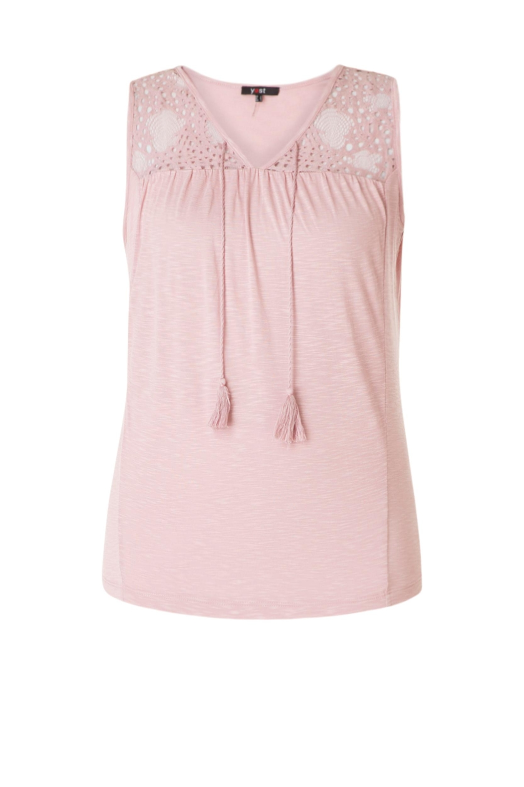 Yest Lace Tie Top - Side Cropped Image