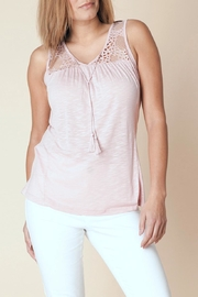 Yest Lace Tie Top - Front cropped