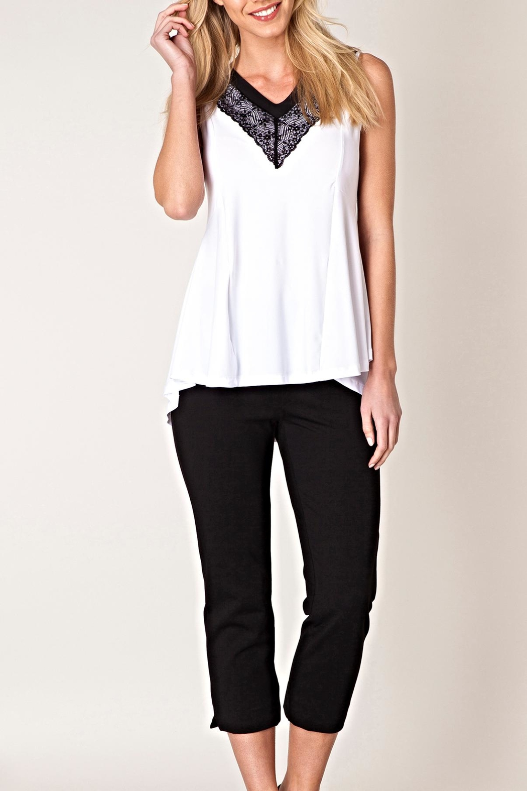 Yest Lace Trim Top - Main Image