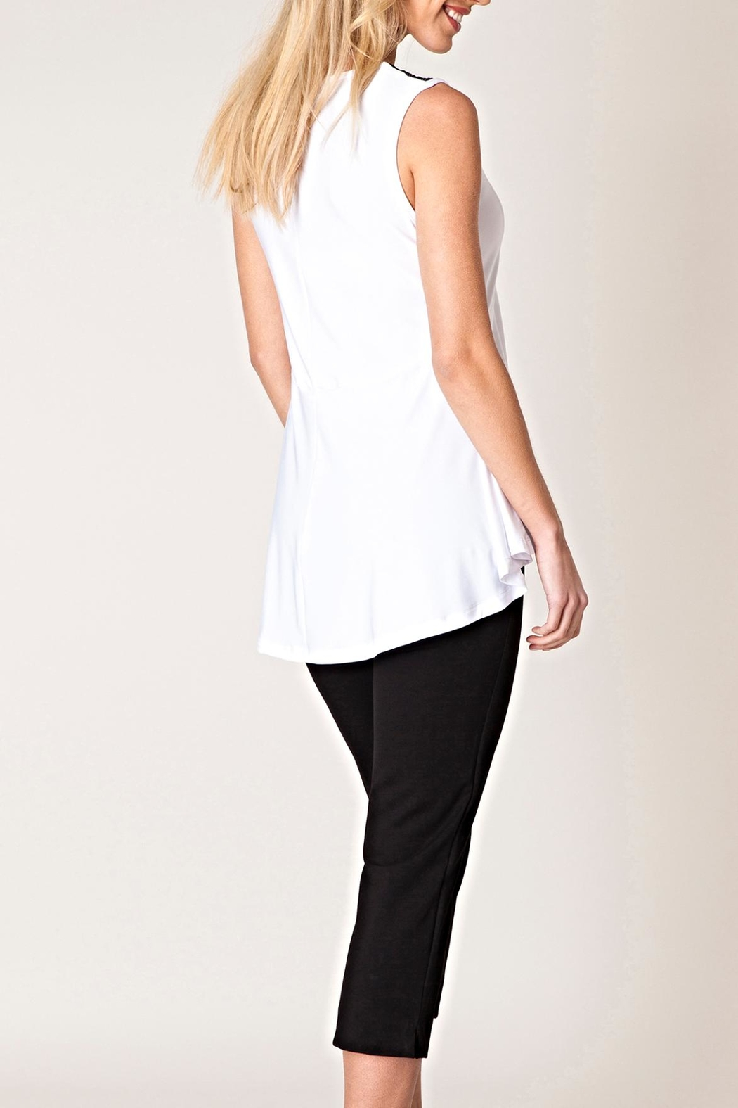 Yest Lace Trim Top - Front Full Image