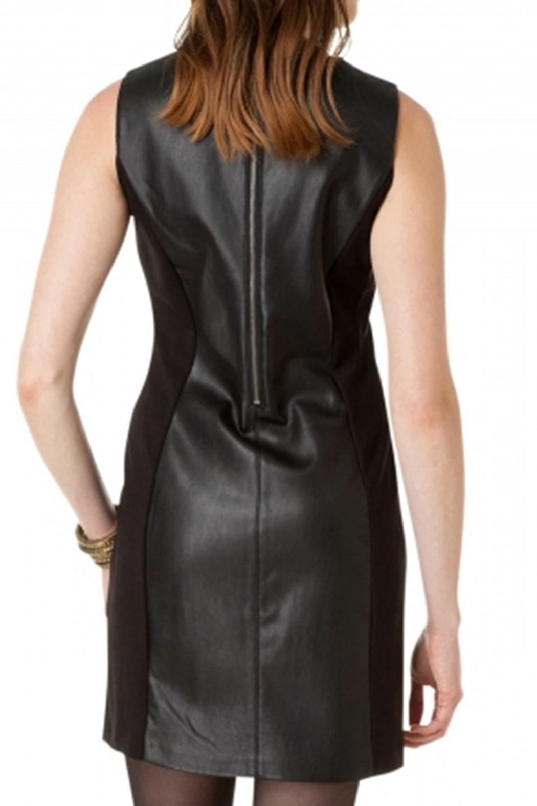 Yest Leather Fabric Dress - Front Cropped Image