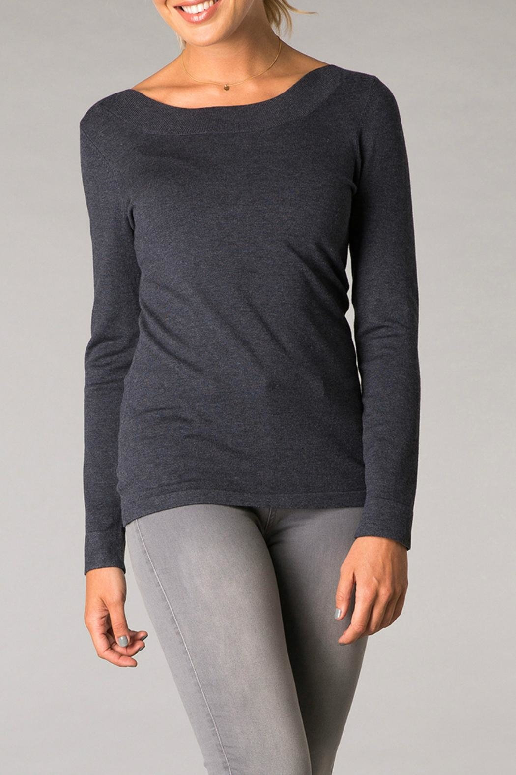 Yest Light Knit Sweatshirt - Front Cropped Image