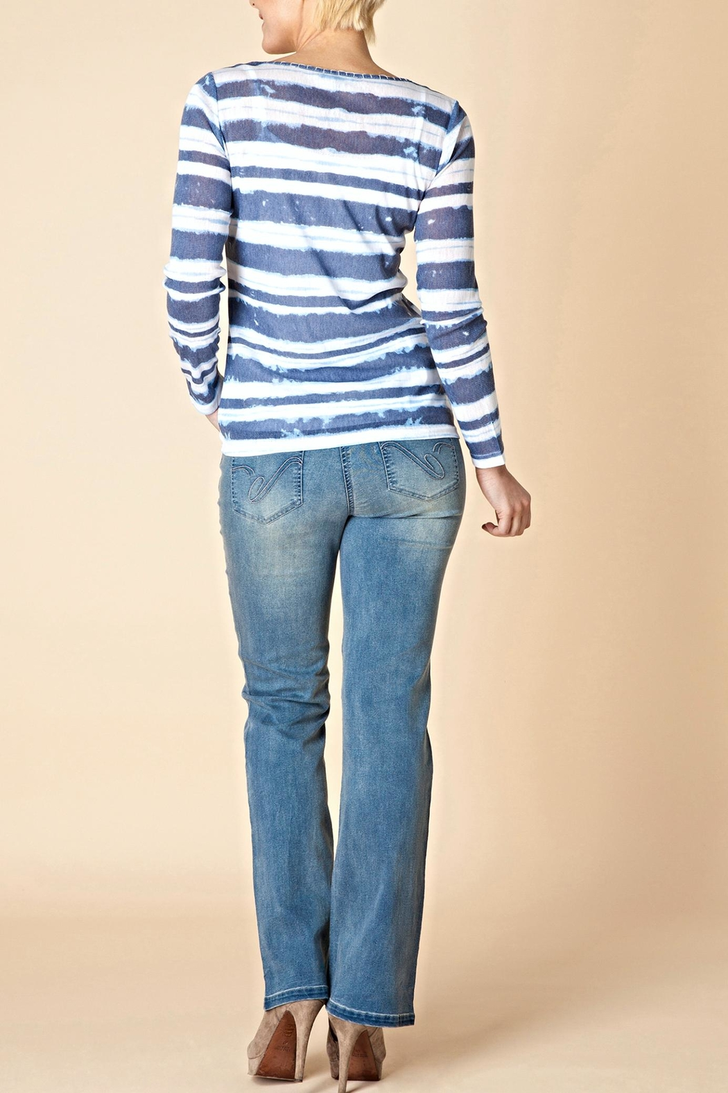 Yest Line Stripe Top - Front Full Image